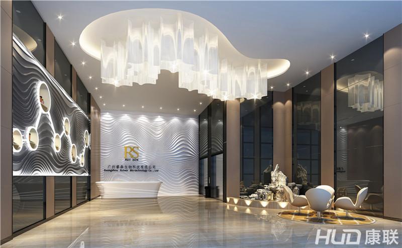 康斯薇美容机构设计接待大厅效果图