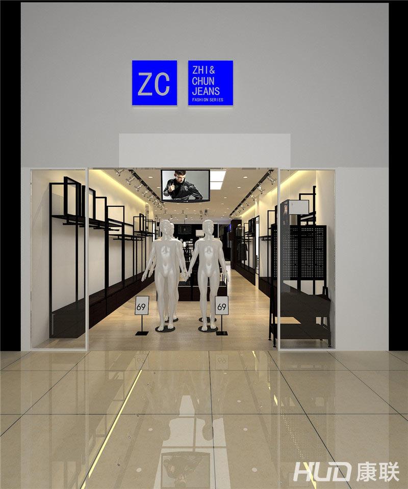 zc品牌潮流男装店装修设计-门头效果图2